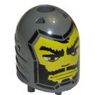 LEGO Dark Stone Gray Santis Large Figure Head