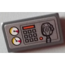 LEGO Dark Stone Gray Slope 31° 1 x 2 with Sticker from Set 60004