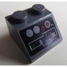 LEGO Dark Stone Gray Slope 45° 2 x 2 with Sticker Set 8088