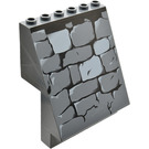 LEGO Dark Stone Grey Sloped Panel 4 x 6 x 6 with Stone Wall Pattern (53212)