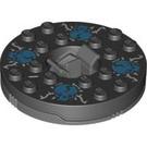 LEGO Dark Stone Gray Spinner Ø47.79 X 1-1/3 (92547)