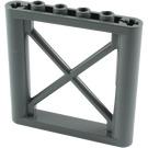 LEGO Dark Stone Gray Support 1 x 6 x 5 Girder Rectangular (64448)