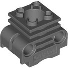 LEGO Dark Stone Gray Technic Engine Cylinder with Slots in Side (2850 / 32061)