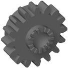 LEGO Dark Stone Gray Technic Gear 16 Tooth with Clutch (with Teeth around Hole) (6542)