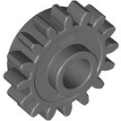 LEGO Dark Stone Gray Technic Gear 16 Tooth with Clutch (without Teeth around Hole) (6542)