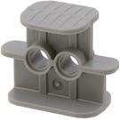 LEGO Dark Stone Gray Technic Rubber Band Holder Small with Pinholes (41752)