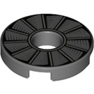 LEGO Dark Stone Gray Tile 2 x 2 Round with Hole in Center with Rotor Blades (21605)