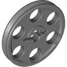 LEGO Dark Stone Gray Wedge Belt Wheel (4185)