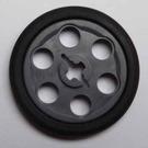 LEGO Dark Stone Gray Wedge Belt Wheel with Tire for Wedge-Belt Wheel/Pulley