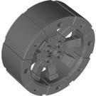LEGO Dark Stone Gray Wheel Ø56 x 22 with Spokes (55817)
