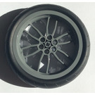 LEGO Dark Stone Gray Wheel 75 x 17mm with Black Tire 94.2mm x 22mm Motorcycle Racing Tread