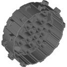 LEGO Dark Stone Gray Wheel with spike Ø62 (64711)