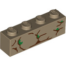 LEGO Dark Tan Brick 1 x 4 with Decoration (42626)