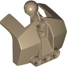 LEGO Dark Tan Chest Plate with Neck Ball Joint (24124)