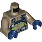 LEGO Dark Tan Firefighter Minifig Torso (76382)