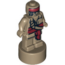 LEGO Dark Tan Minifig Statuette with Decoration (12206 / 97707)