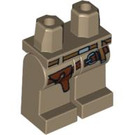 LEGO Dark Tan Minifigure Hips and Legs with Indiana Jones Belts and Holster (62363)