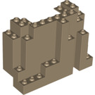 LEGO Dark Tan Panel 4 x 10 x 6 Rock Rectangular (6082)