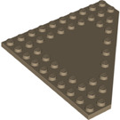LEGO Dark Tan Plate 10 x 10 without Corner without Studs in Center (92584)