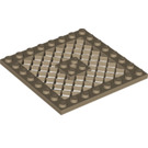 LEGO Dark Tan Plate 8 x 8 with Grille (Hole in Center) (4151)