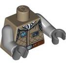 LEGO Dark Tan Star Wars Torso Luke Hoth Jacket (76382 / 88585)