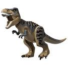LEGO Dark Tan T Rex (dark tan with brown stripes)