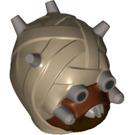 LEGO Dark Tan Tusken Raider Head (19539 / 33774)