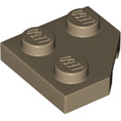 LEGO Dark Tan Wedge Plate 2 x 2 (45º) (26601)