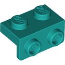 LEGO Dark Turquoise Bracket 1 x 2 - 1 x 2 (99781)