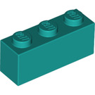 LEGO Dark Turquoise Brick 1 x 3 (3622)
