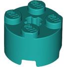 LEGO Dark Turquoise Brick 2 x 2 Round (6143)