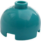LEGO Dark Turquoise Brick 2 x 2 Round with Dome Top (Hollow Stud with Bottom Axle Holder x Shape + Orientation) (553)