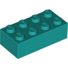 LEGO Dark Turquoise Brick 2 x 4 (3001)