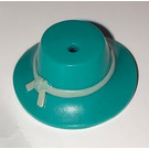 LEGO Turquoise Foncé Hat with Tan Band
