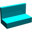 LEGO Dark Turquoise Panel 1 x 2 x 1 without Rounded Corners (4865)
