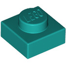 LEGO Dark Turquoise Plate 1 x 1 (3024)