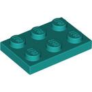 LEGO Dark Turquoise Plate 2 x 3 (3021)