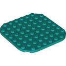 LEGO Dark Turquoise Plate 8 x 8 Circle (65140)