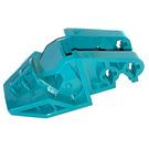 LEGO Dark Turquoise Ridged Head / Foot 3 x 6 x 1.6 (32165)