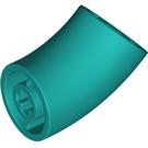 LEGO Dark Turquoise Round Brick with 45 Degree Elbow (65473)