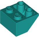 LEGO Dark Turquoise Slope 2 x 2 (45°) Inverted (3660)