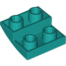 LEGO Dark Turquoise Slope 2 x 2 Curved Inverted (32803)