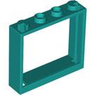 LEGO Dark Turquoise Window 1 x 4 x 3 (60594)