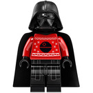 LEGO Darth Vader - Red Christmas Sweater with Death Star Minifigure