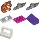 LEGO Friends Advent Calendar Set 41382 Subset Day 4 - Hamster Sled Tree Ornament