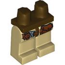 LEGO Dinosaurs Minifigure Hips with Tan Legs (3815 / 75164)