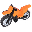 LEGO Dirt Bike with Black Chassis and Medium Stone Gray Wheels (50860)