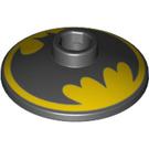 LEGO Dish 2 x 2 Inverted with Batman Symbol (4740 / 55056)