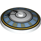 LEGO Dish 4 x 4 Inverted with Clock Decoration (27350)