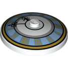 LEGO Dish 4 x 4 Inverted with Clock Decoration with Solid Stud (3960 / 27350)
